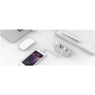 ORICO USB 3.0 Hub M3H4, 4x USB3.0 ports, 5Gbps, ασημί