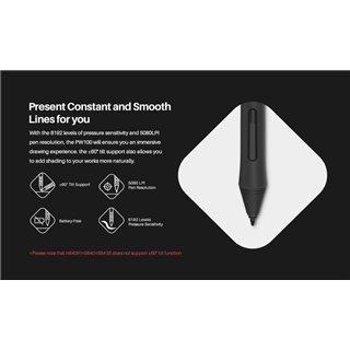HUION tablet pen PW100, battery-free, μαύρο-γκρι
