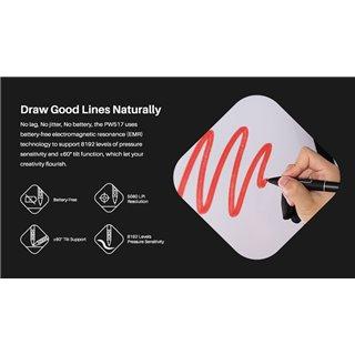 HUION tablet pen PW517, battery-free, μαύρο