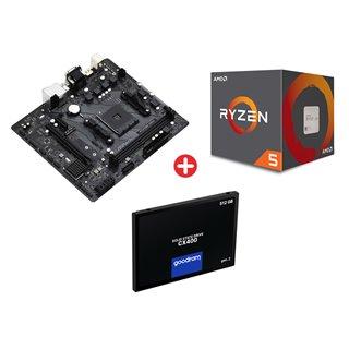 Bundle BNDL-0095 ASROCK μητρική A520, AMD Ryzen 5 2600X & GOODRAM 512GB