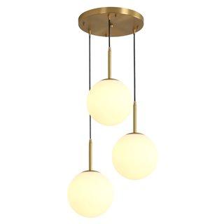 POWERTECH φωτιστικό οροφής HLL-0037, 3x E27, Φ 3x20, μεταλλικό, χρυσό