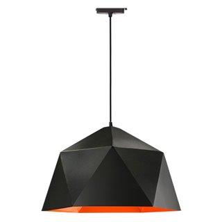 POWERTECH φωτιστικό οροφής HLL-0041, E27, 25x15cm, μεταλλικό, μαύρο