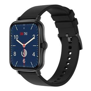 """ΙΝΤΙΜΕ smartwatch P8 Plus 1.69"""" έγχρωμο IP67, HR & Blood pressure, μαύρο"""