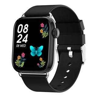 """ΙΝΤΙΜΕ smartwatch P16, 1.69"""" έγχρωμο, IP67, HR & Blood pressure, μαύρο"""
