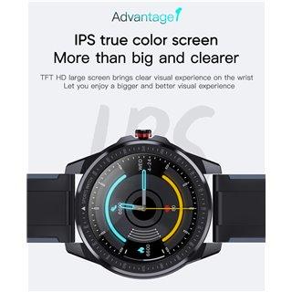 """ΙΝΤΙΜΕ smartwatch SN88, 1.28"""" έγχρωμο, IP68, HR & Blood pressure, μαύρο"""