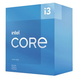 INTEL CPU Core i3-10105F, 4 Cores, 3.70GHz, 6MB Cache, LGA1200