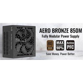 AEROCOOL τροφοδοτικό Aero 850M, Active PFC, 80 Plus Bronze