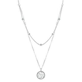 BAMOER κολιέ SCN365 δυο σειρών, ασήμι 925, ασημί