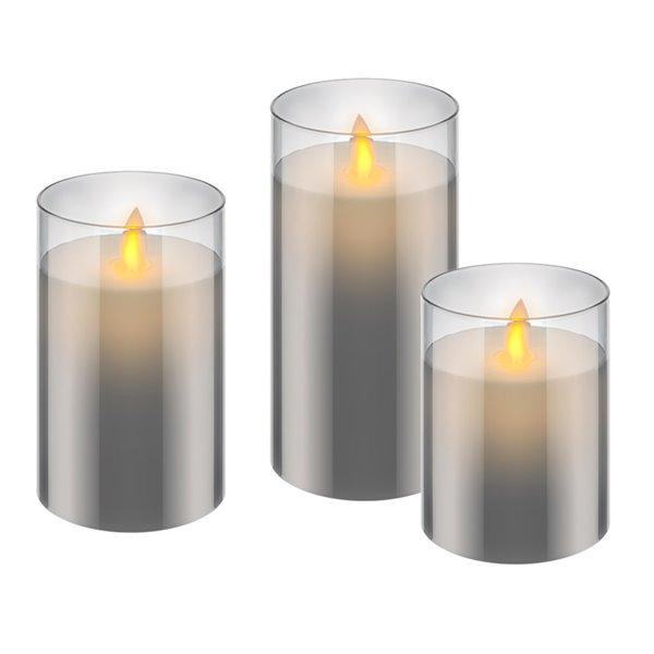 GOOBAY σετ LED φωτιστικό κερί 57865, 2700K, IP20, 3τμχ