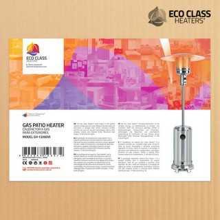 Θερμαντική Ομπρέλα Αερίου Eco Class Heaters GH 12000W