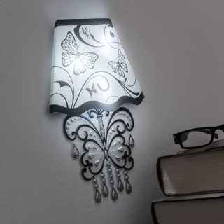 Αυτοκόλλητο για τον Τοίχο με LED Butterfly