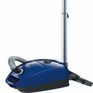 Ηλεκτρική σκούπα με Σακούλα BOSCH 222457 600W DualFiltration Μπλε