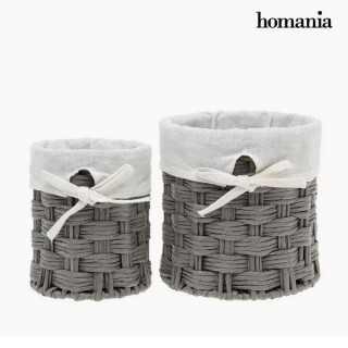 Σετ καλαθιών Homania 2978 (2 pcs) Γκρι