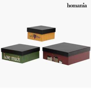 Διακοσμητικό κουτί Homanía 2649 (3 pcs) Τετράγωνο