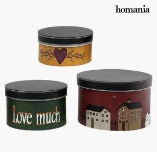 Διακοσμητικό κουτί Homania 2687 (3 pcs) Στρογγυλή