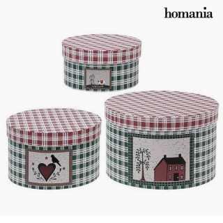 Διακοσμητικό κουτί Homania 7611 (3 uds) Χαρτόνι
