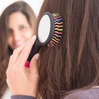 Βούρτσα Μαλλιών με Καθρέφτη Ουράνιο Τόξο