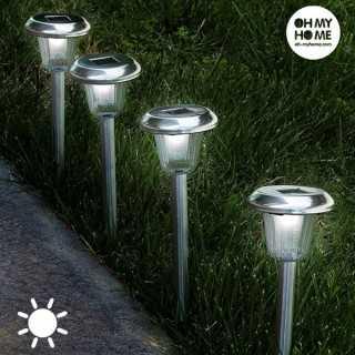 Κυκλικό Ηλιακό Φως Δάδα Oh My Home (Πακέτο με 4)