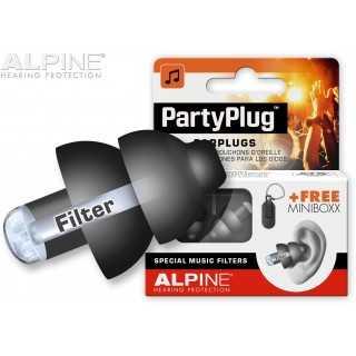 ALPINE PartyPlug™ ωτοασπίδες για μουσική, Μαύρες