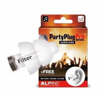 ALPINE PartyPlug Pro™ Natural ωτοασπίδες μουσικής για φυσική εξασθένηση