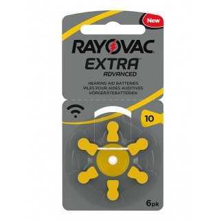 Μπαταρίες ακουστικών Rayovac Extra Advanced 6 τεμάχια Νο 10