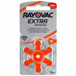 Μπαταρίες ακουστικών Rayovac Extra Advanced 6 τεμάχια Νο 13