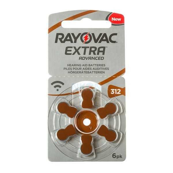 Μπαταρίες ακουστικών Rayovac Extra Advanced 6 τεμάχια Νο 312