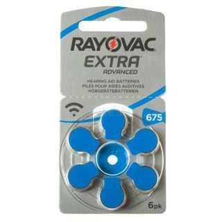 Μπαταρίες ακουστικών Rayovac Extra Advanced 6 τεμάχια Νο 675