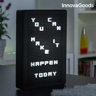 Διάτρητος Πίνακας με Γράμματα LED InnovaGoods