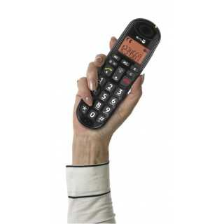 DORO PhoneEasy 100w Black ασύρματο τηλέφωνο, +30dB φωνή, +90dB κουδούνι και μεγάλα πλήκτρα